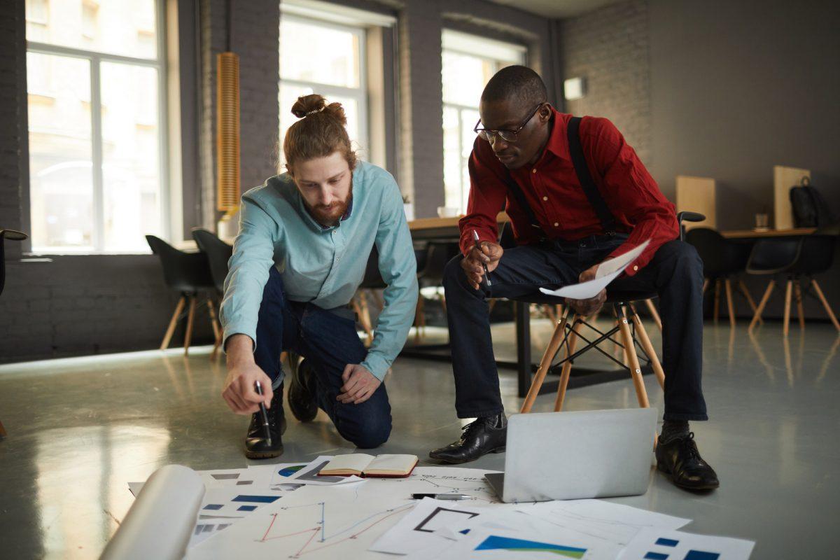 Businessmen Planning Project