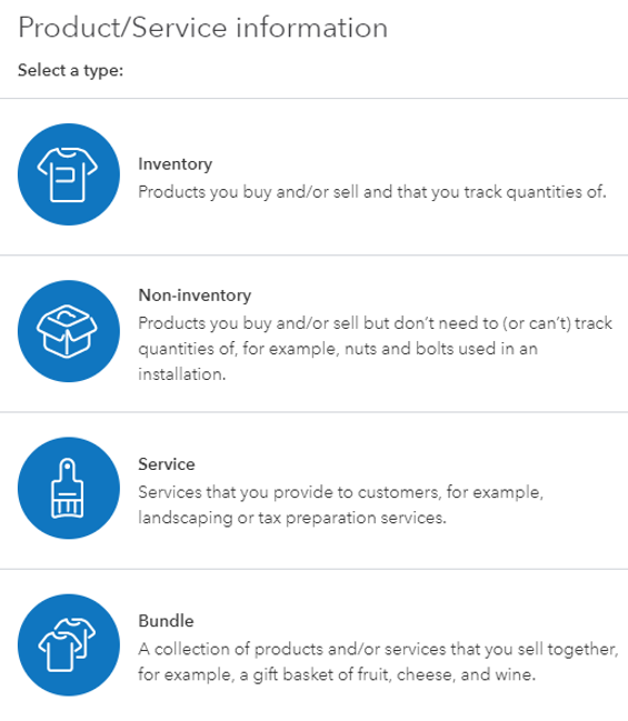 Products and Services Selection